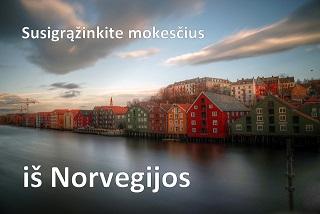 mokesciu grazinimas norvegija