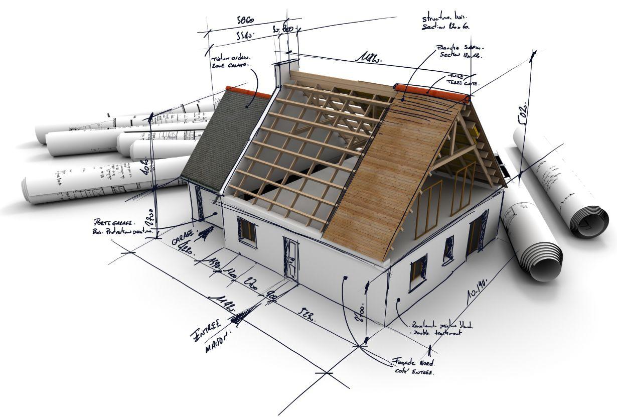Nuosavas namas: geodeziniai matavimai, namo projektas ir statybos darbai